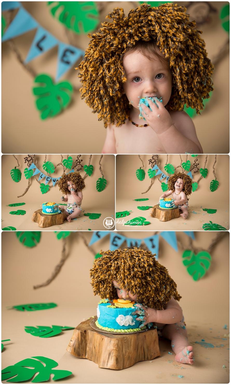 cake-smash-sudbury-infant-photographer-cakesmash-session-lion-leo-blue-oneyear-helgahimer-photography-baby-eating-cake-lion-main