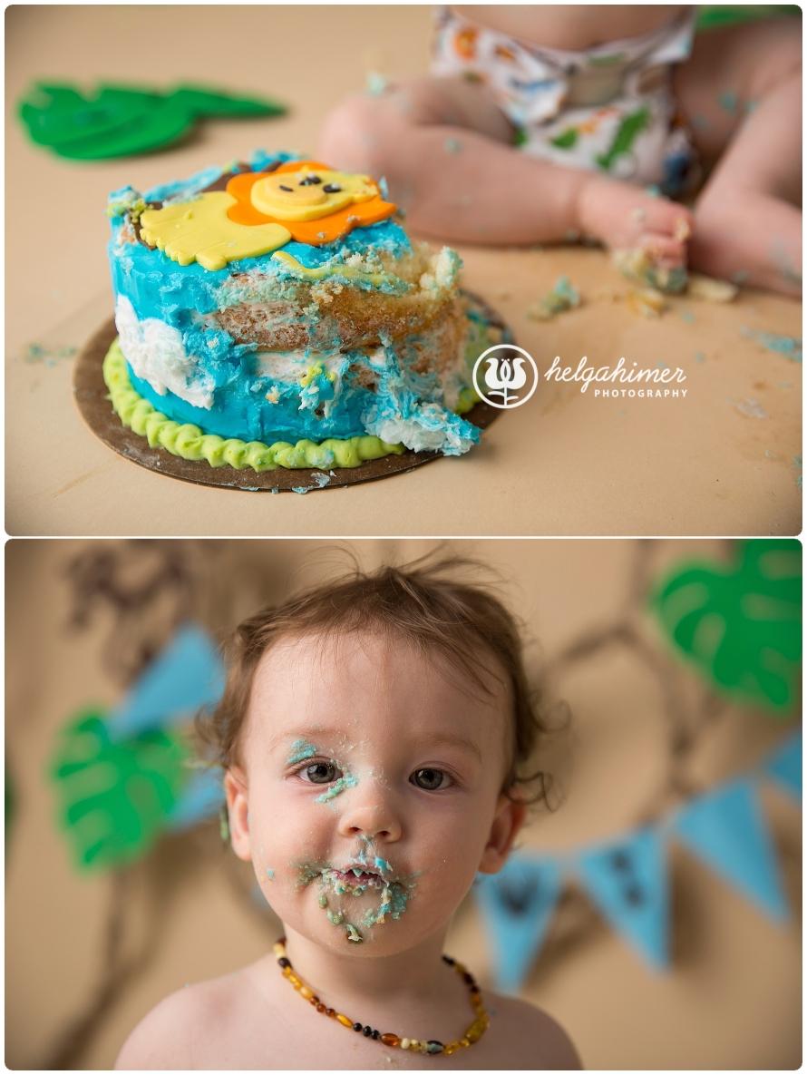 cake-smash-sudbury-infant-photographer-cakesmash-session-lion-leo-blue-oneyear-helgahimer-photography-baby-photo-messy-face-smashed-cake